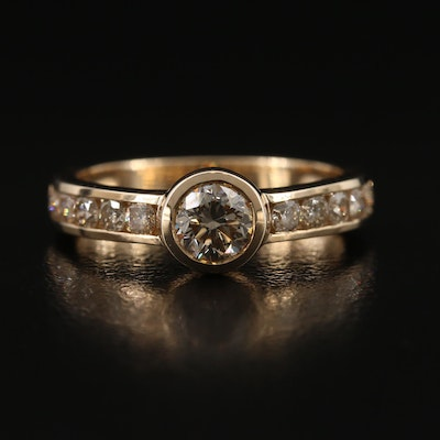 9K 1.12 CTW Dimond Ring