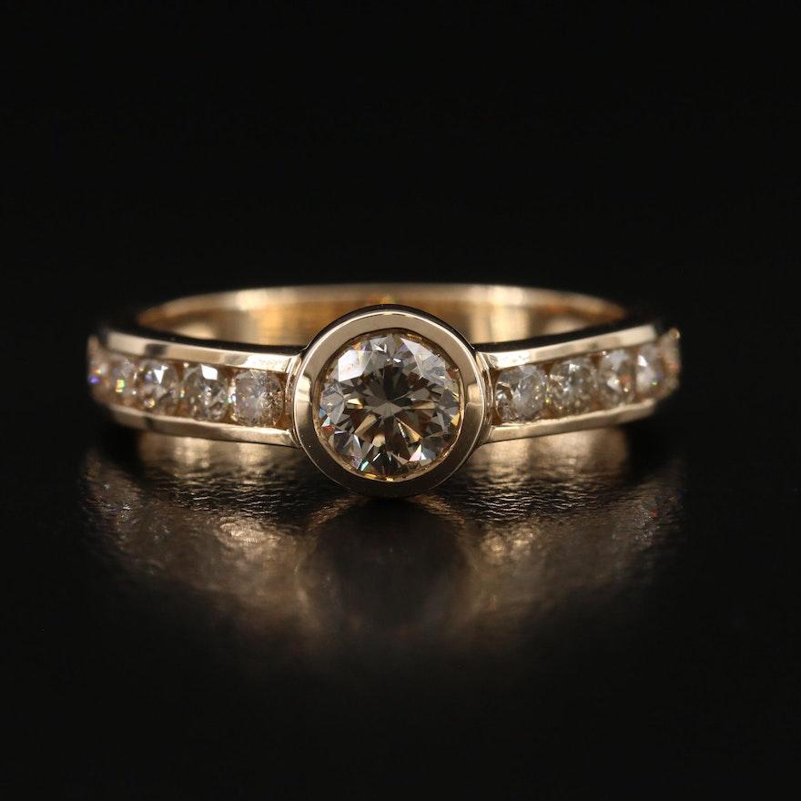 9K 1.12 CTW Dimond Ring