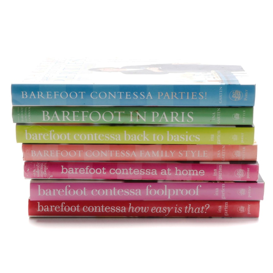 "First Edition ""Barefoot Contessa"" Ina Garten Cookbook Collection, 21st C"