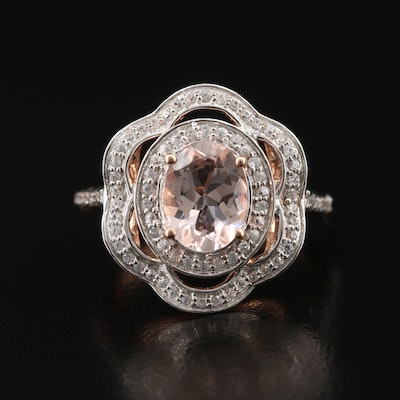 14K Morganite and Topaz Ring