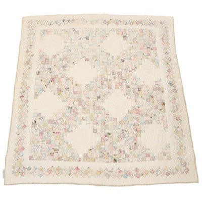Impressions Floral Patchwork Twin-Sized Quilt