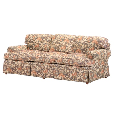 Henredon Upholstered Floral Sofa, Late 20th Century