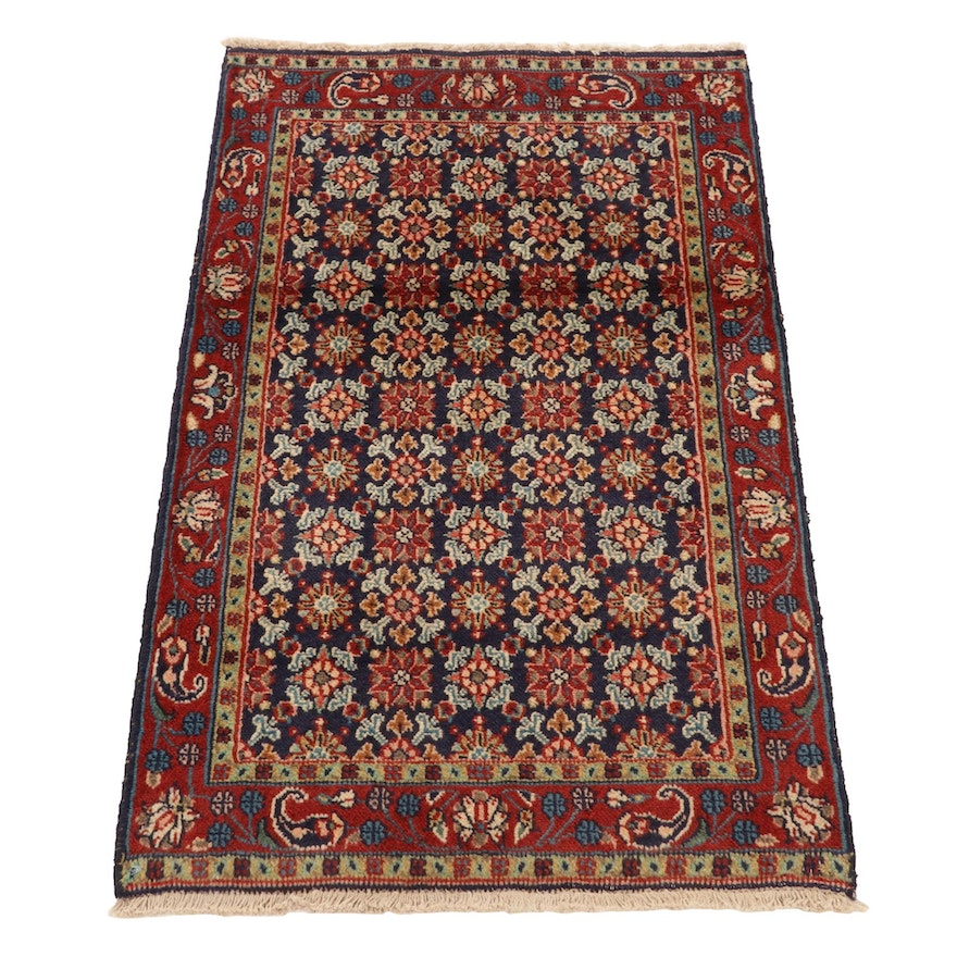 2' x 3'4 Hand-Knotted Persian Tabriz Accent Rug, 1980s
