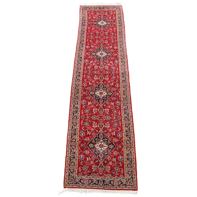 3'4 x 14'9 Hand-Knotted Persian Mashhad Wool Carpet Runner