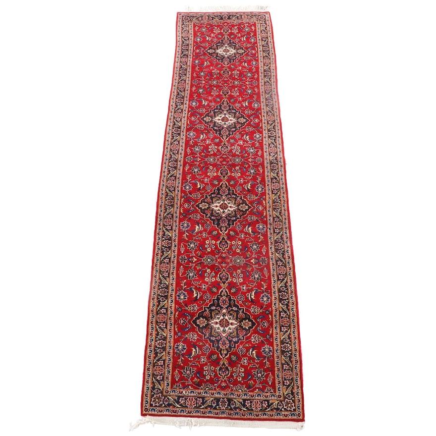 3'4 x 14'9 Hand-Knotted Persian Mashhad Wool Carpet Runner