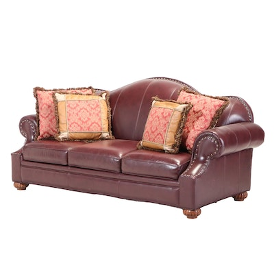 Bob Timberlake Three-Seat  Leather Sofa with Nailhead Trim
