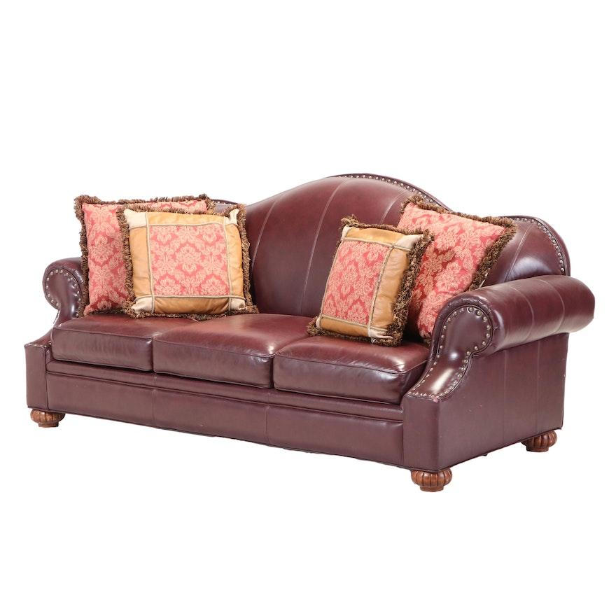 Bob Timberlake Three-Seat  Leather Sofa with Nailhead Trim