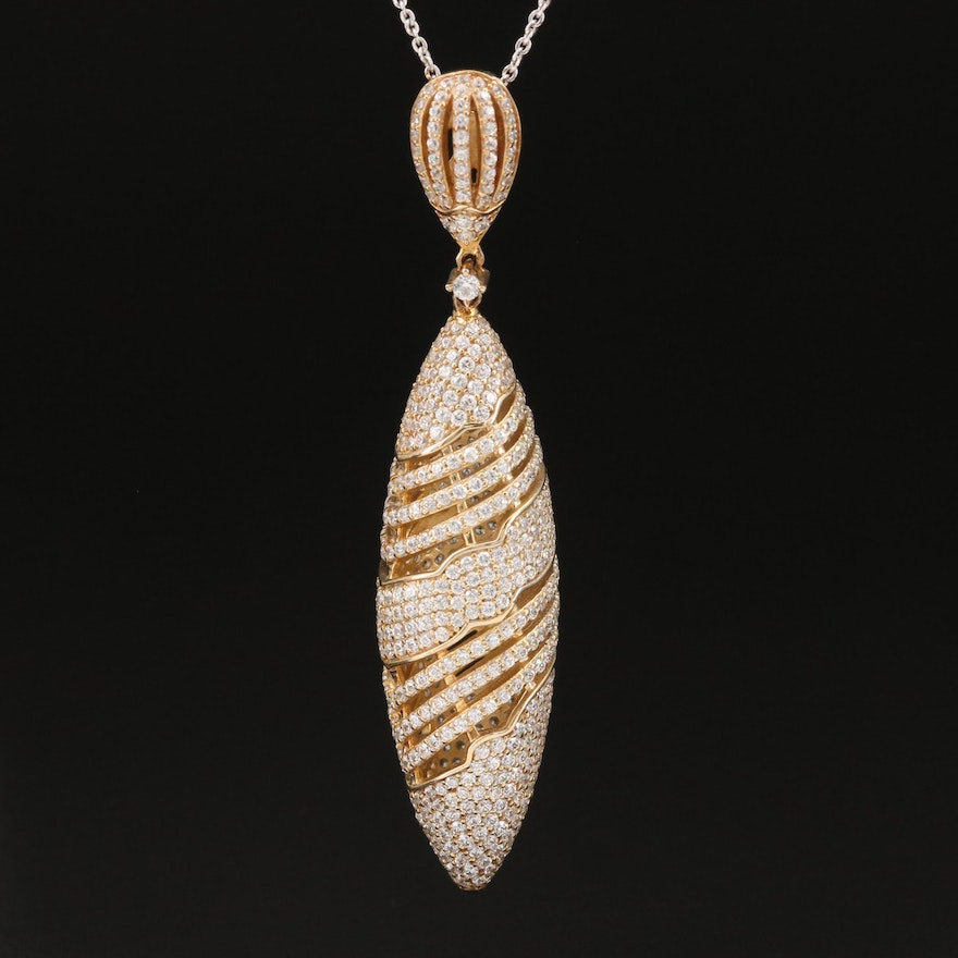 Sterling Cubic Zirconia Pendant Necklace
