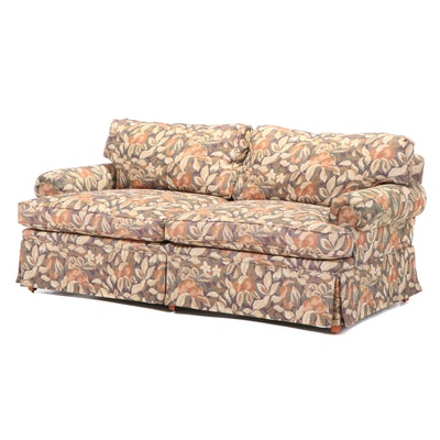 Henredon Upholstered Floral Loveseat, Late 20th Century