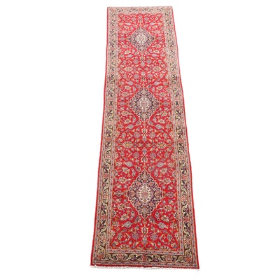 3'4 x 13'9 Hand-Knotted Persian Kashan Wool Carpet Runner