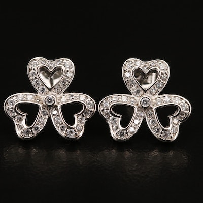 Sterling Cubic Zirconia Heart Earrings