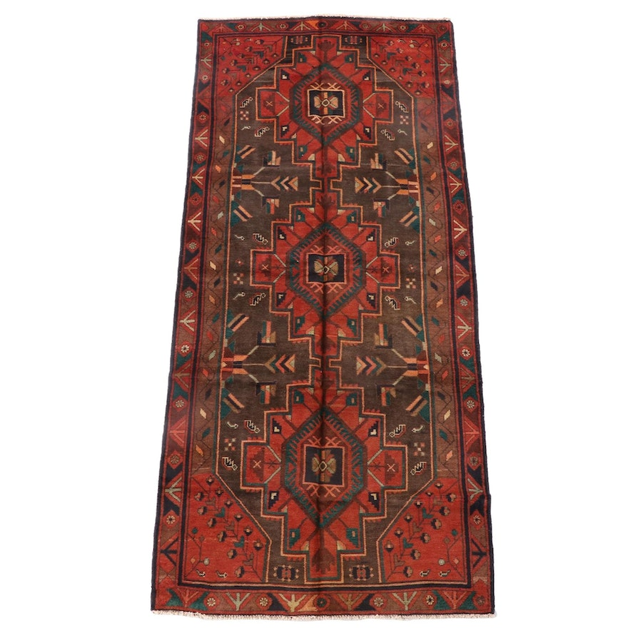 4'3 x 10'0 Hand-Knotted Persian Yalameh Wool Long Rug