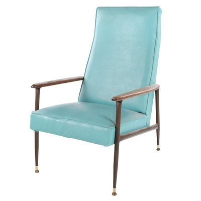 Viko Furniture by Baumritter Mid Century Modern Oak and Faux-Bois Lounge Chair