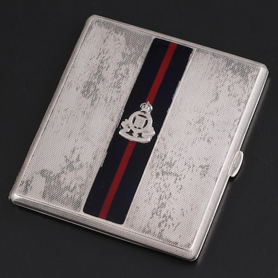 Royal Army Ordance Corps Sterling Cigarette Case