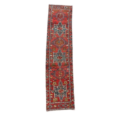 1'8 x 7'8 Hand-Knotted Persian Lamberan Wool Carpet Runner