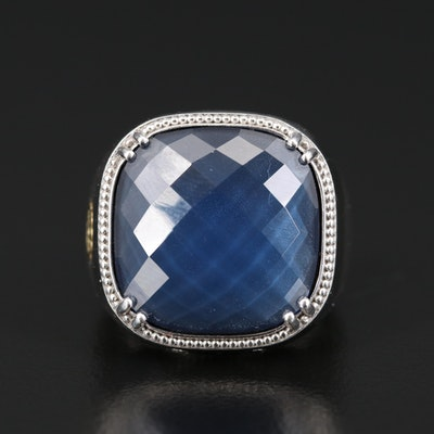 """Tacori """"City Lights"""" Sterling Silver Quartz Doublet Ring with 18K Accents"""