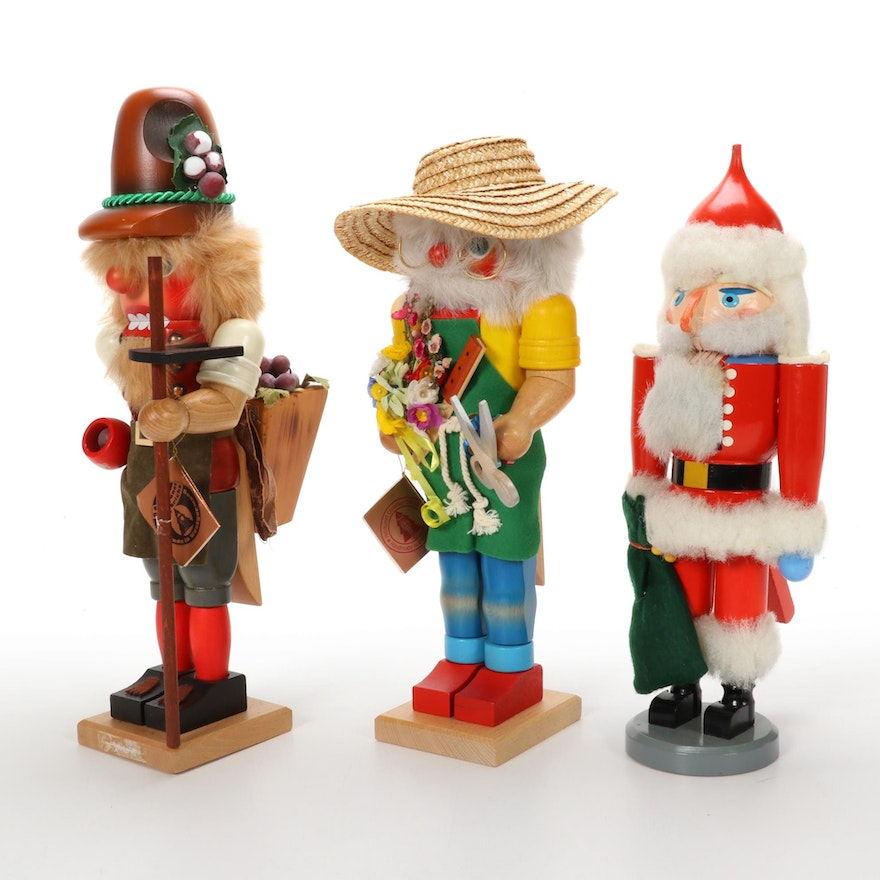 Christian Ulbricht and Other Hand-Crafted Wooden Nutcrackers