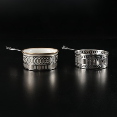 Watson Sterling Silver Porringer Zarfs and Lenox Bone China Insert