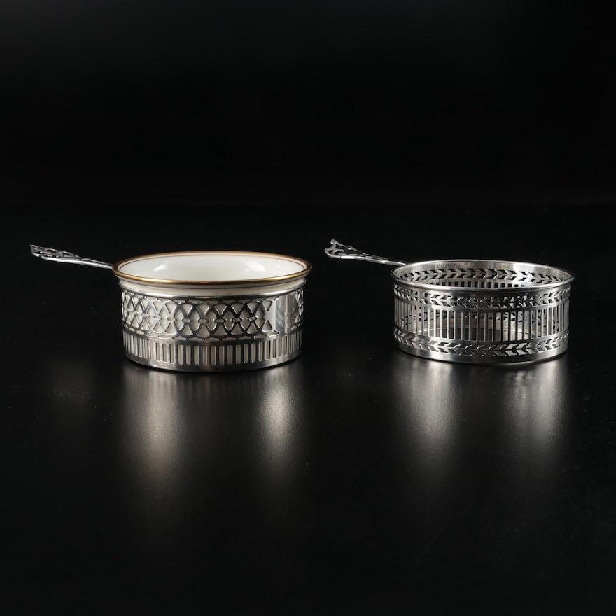 Watson Sterling Silver Porringer Zarfs and Lenox Bone China Insert
