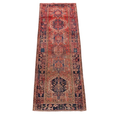 3'1 x 8'10 Hand-Knotted Persian Karaja Wool Carpet Runner