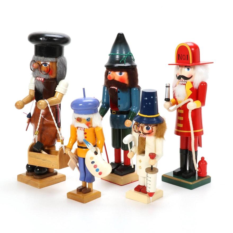 Handmade Occupation-Themed Nutcrackers