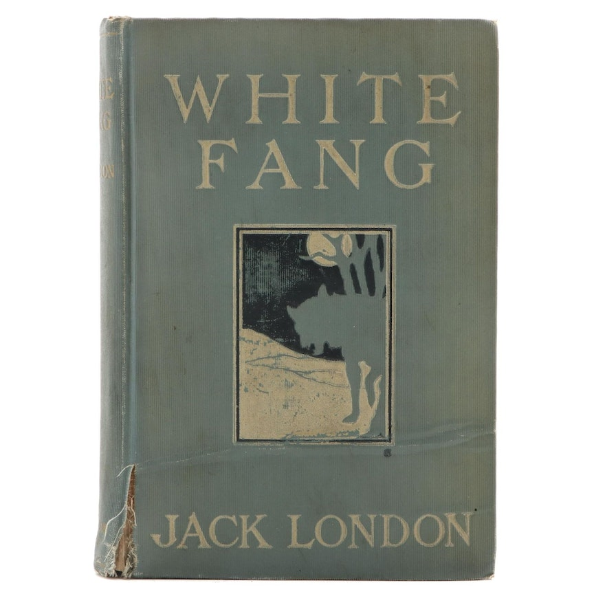 """First Edition, First Printing """"White Fang"""" by Jack London, 1906"""