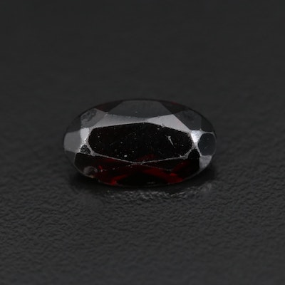 Loose 4.49 CT Oval Faceted Garnet Gemstone