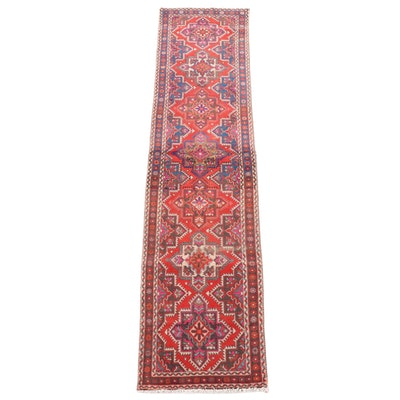 3'1 x 12'11 Hand-Knotted Caucasian Kazak Wool Carpet Runner