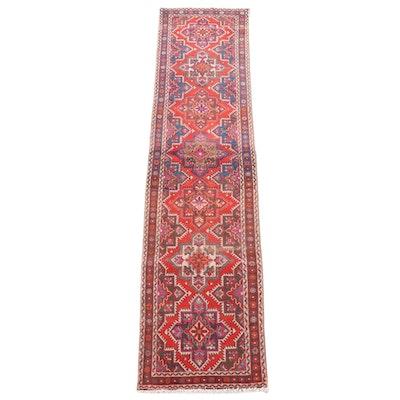 3'1 x 12'11 Hand-Knotted Caucasian Kazak Wool Carpet Runner