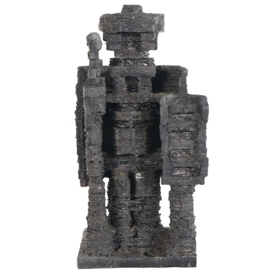 Edgar Tafur Abstract Metal Sculplture, Late 20th Century