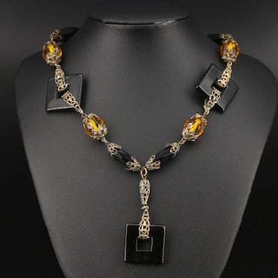 Art Deco Sautoir Necklace
