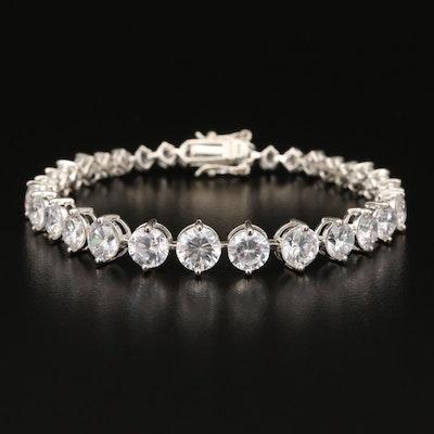 Sterling Cubic Zirconia Graduated Bracelet