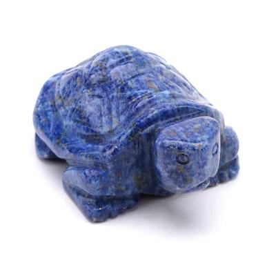Carved Lapis Lazuli Turtle Figurine
