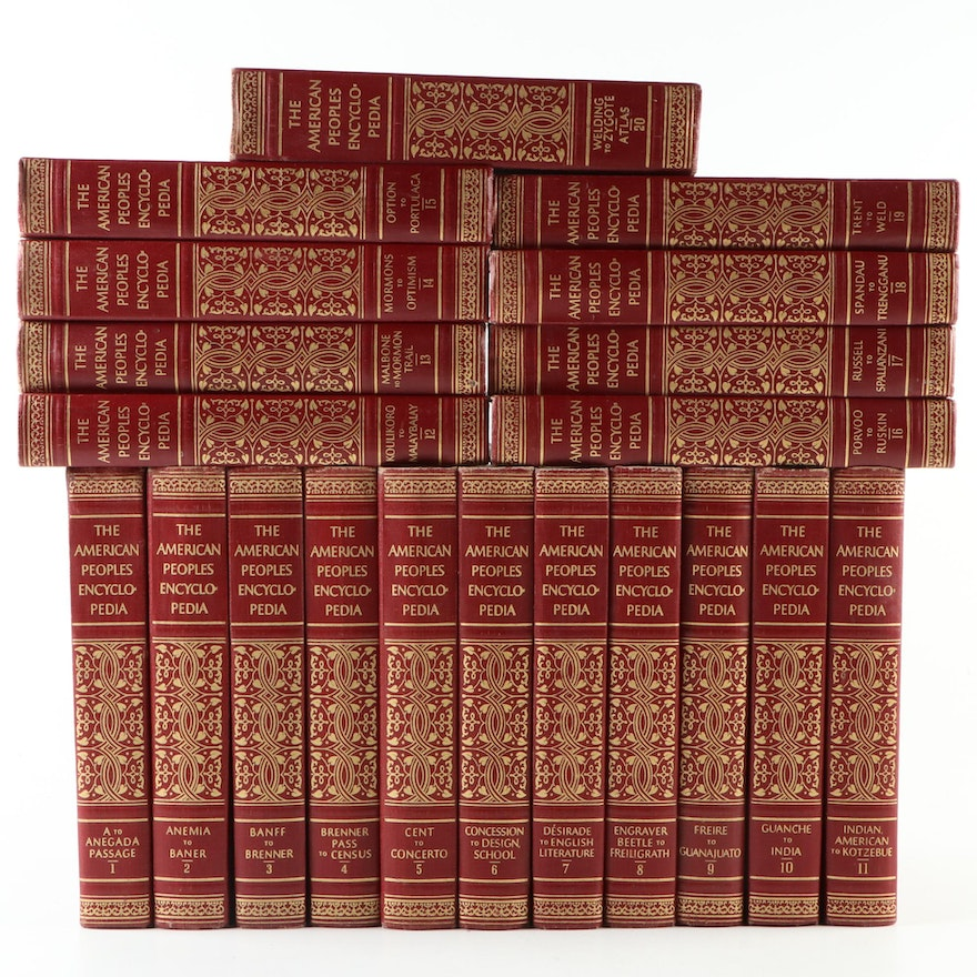 """The American Peoples Encyclopedia"" Twenty-Volume Set, 1956"