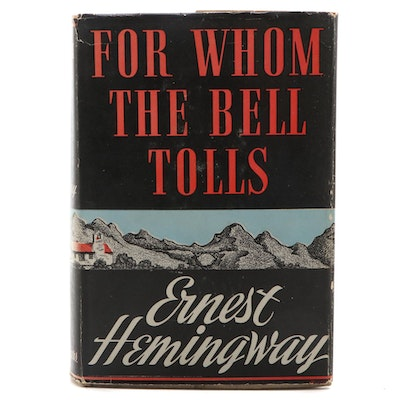 "First Edition ""For Whom the Bell Tolls"" by Hemingway with Dust Jacket, 1940"