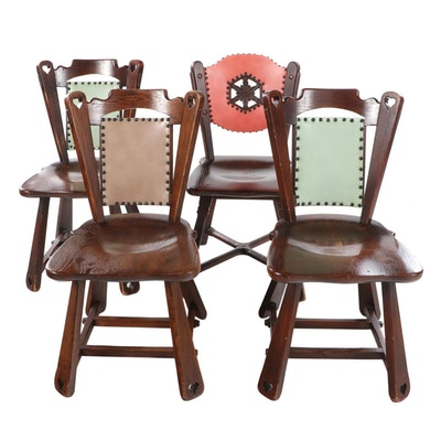 Four Romweber Oak Side Chairs, 20th Century