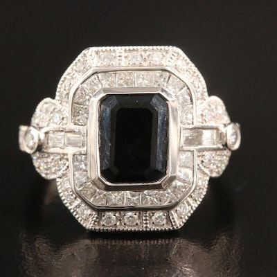 Platinum 2.75 CT Sapphire and 1.17 CTW Diamond Ring