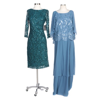 Maya Brooke and Jessica Howard Sequin Evening Dresses
