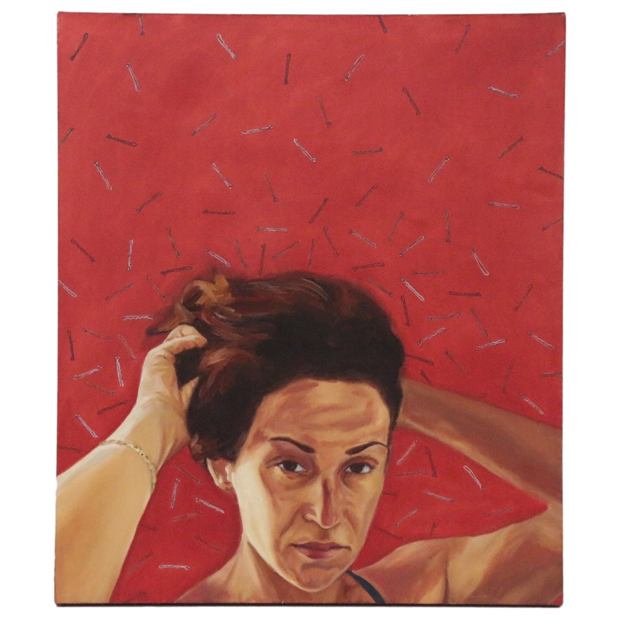 Contemporary Portrait Oil Painting, 21st Century