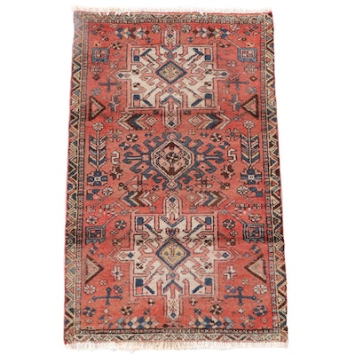 2'6 x 4'4 Hand-Knotted Persian Karaja Wool Rug