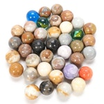 Shooter and Agate Handmade and Machine Glass Marbles