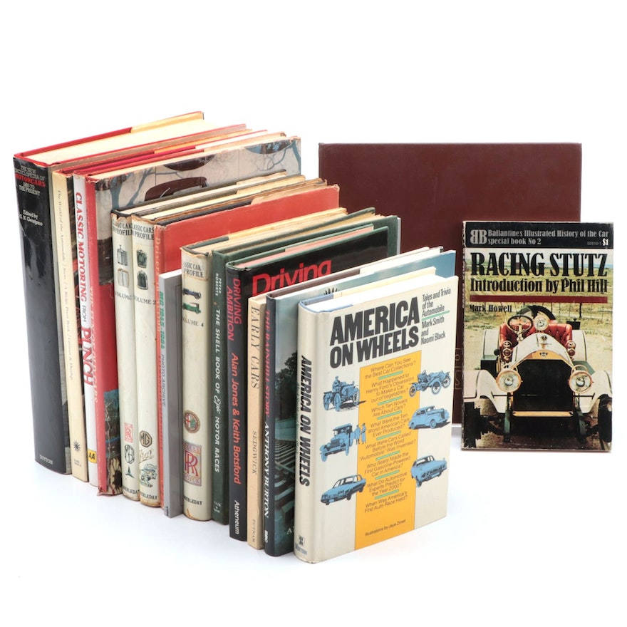 "Automobile History and Reference Books Including ""America on Wheels"""