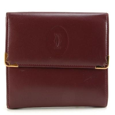 Cartier Must de Bordeaux Double Bifold Wallet