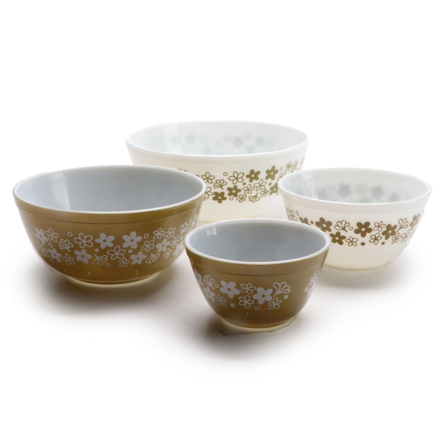 "Pyrex ""Spring Blossom"" Glass Mixing Bowls, 1972–1979"