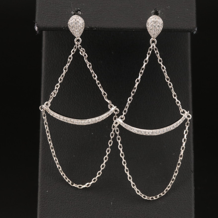 Sterling Cubic Zirconia Earrings