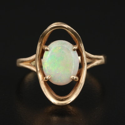 10K Opal Wirework Ring