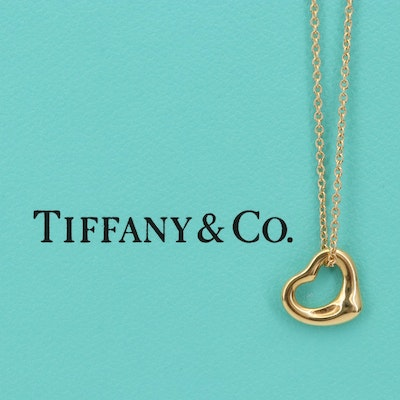 Elsa Peretti for Tiffany & Co. 18K Open Heart Necklace