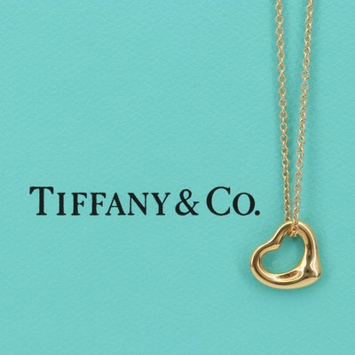 Elsa Peretti for Tiffany & Co. 18K Open Heart Necklace