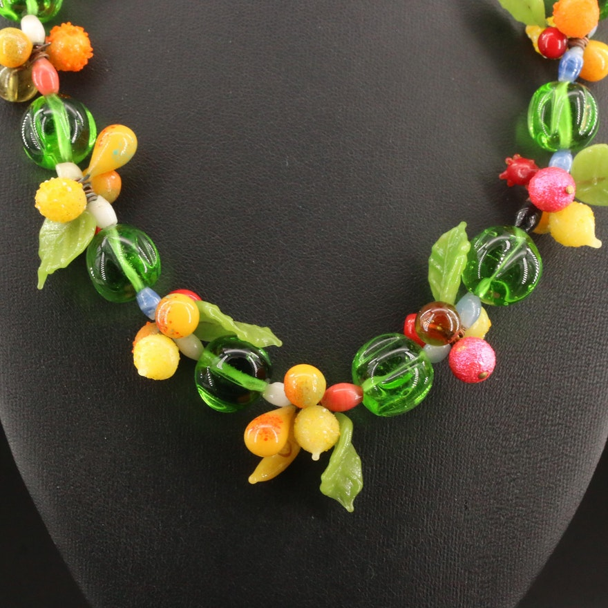 1930s Art Glass Necklace