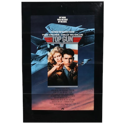 """""""Top Gun"""" Offset Lithograph One-Sheet Theatrical Release Movie Poster, 1986"""